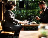 Two entrepreneurs having a meeting