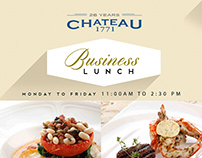 Business Lunch for Chateau 1771