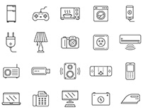 80 Electronics Vector Icons