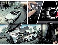 Lexus Social Media Interactive Comic