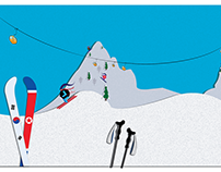 ski illustration for an article