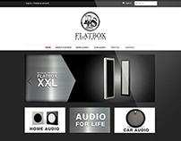 Flatbox Audio Speakers E-Commerce Site