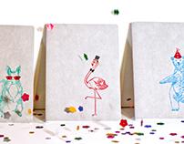 Letterpress Party Animals