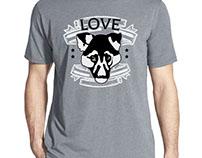 Love Dog T-Shirt Design.