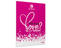Campaña para San Valentín Gala Perfumeries