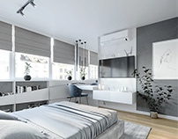 Bedroom design for apartment in Sarajevo.