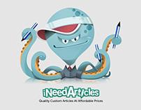 iNeedArticles Mascot and Web Design