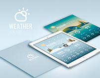 Weather concept app for iPad