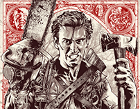 Evil Dead 2 Licensed Screen-Print