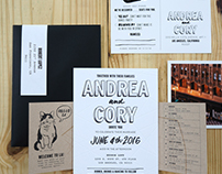 Bold Black and White Letterpress Wedding
