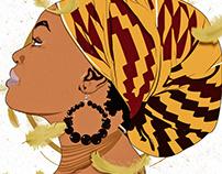 The Beauty of An African Women: Portrait Series P1