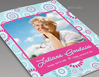 Remembrance Funeral Program Template