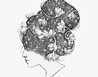 Women's heads.