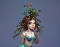 A mermaid.