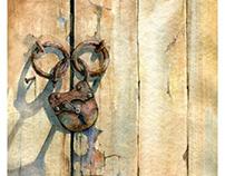 """The door (""""freedom""""), paper, watercolor, 50x35, 2018"""
