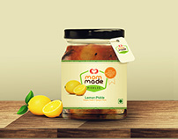 Mom-made Pickles branding and labeling design