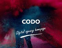 Codo - Digital agency homepage