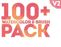 100+ WATERCOLOR & BRUSH PACK