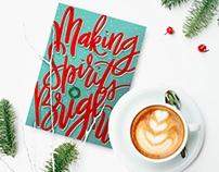 Making Spirits Bright Christmas Card 2017