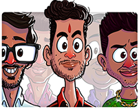 Caricature of Colleagues