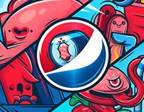 Pepsi / Łódź Piotrkowska 217 / Mural Design
