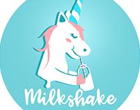 Unicorn Milkshake logo studies