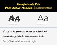 Google Fonts pair - Permanent Marker & Montserrat