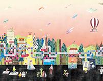 2017 Book Illustrations《華夏徵文中小學生得獎作品集國中組-我心中的未來世界》書籍插畫