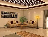 Interior of Bedroom and Livingroom