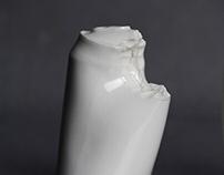 Coke porcelain cans - experiment