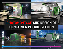 PHOTOMONTAGE AND DESIGN OF CONTAINER PETROL STATION