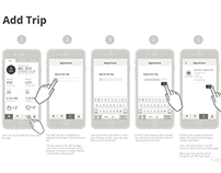 Digital Ticket Wireframes
