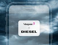 Carte Rose à Diesel Smartwatch