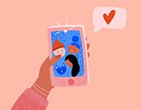 Social distances - Illustrations for Bubble magazine