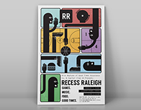 Recess Raleigh 2015 Poster Design