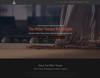 Miller Theater Restoration Website
