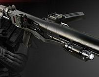 The E-11D blaster rifle 3D print model