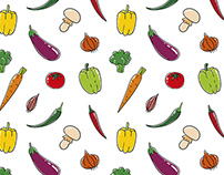 Vegetable vector pattern