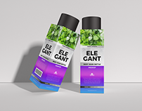 Free Elegant Body Wash Bottle Mockup