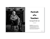 Portrait of a Teacher – magazine feature design