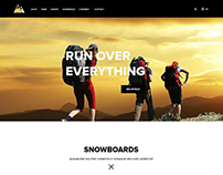 Attractive Web Design for SnowBoarding Website