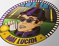 "Logo for ""Mai Lucidi"", Fiorentina fan group."