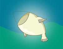 Ilustração e newsletter - Cabeça de bacalhau