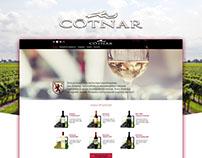 COTNAR - wine (redesign - landing page)
