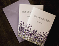 Wedding branding inspired by lavender flowers
