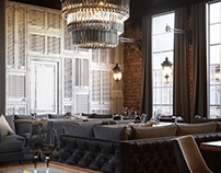 Chic loft restaurant design | Moscow | Russia