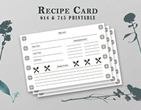 Free Recipe Card Printable Tamplate V5