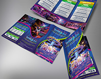 Thrills Laser Tag and Arcade Tri-fold Brochure