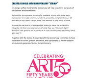 Anniversary Graphic / Calvin College Art Dept.