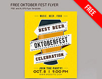 Free Oktoberfest Flyer Template in PSD + Vector